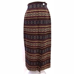Pendleton Wool Southwest Print Wrap Skirt